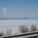 Frozen Mississippi River near Ferryville