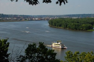 The city of Dubuque Iowa from the Julien Dubuque Monument