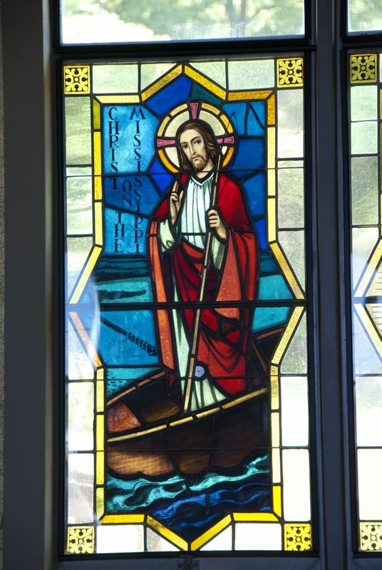 St. Lawrence window (Jesus in a boat); Alma, WI
