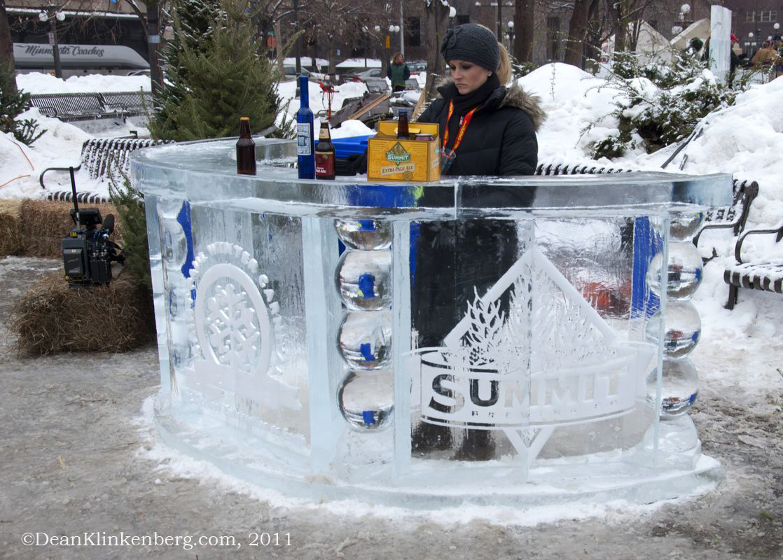 Ice Carving at Winter Carnival; St. Paul, MN
