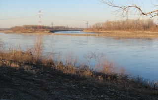 View along the St. Louis Riverfront Trail