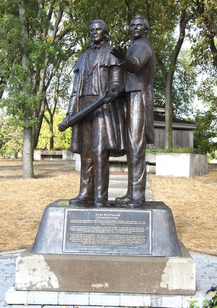 Memorial for Mormon pioneers; Nauvoo, IL