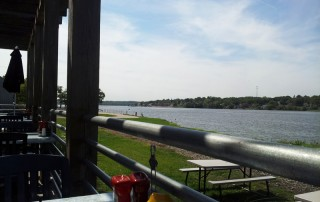 Patio view from It's On the River; Port Byron, IL