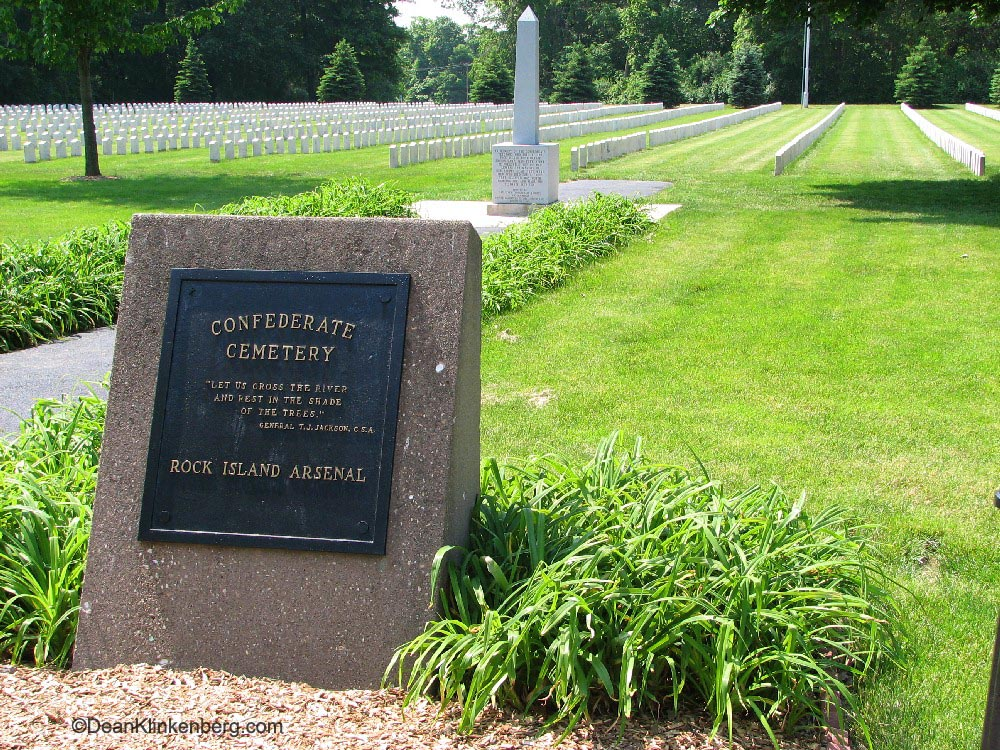 Confederate Cemetery; Rock Island Arsenal, IL