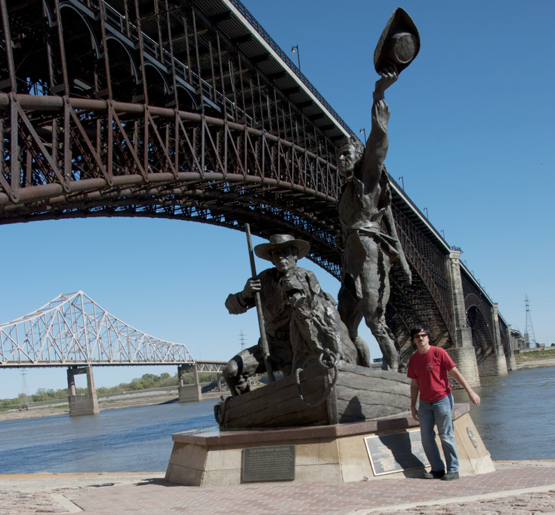 Lewis and Clark statue; St. Louis, MO