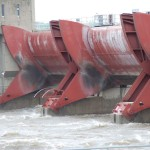 Lock & Dam 13 on a stormy day