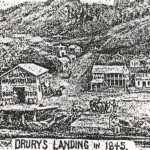 Drury's Landing, as sketeched by John McGreer in 1899