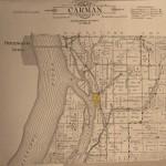 Map of area around Shokokon, IL