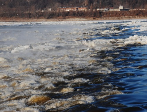 Ice on the Mississippi River