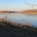 View along the St. Louis Riverfront Trail